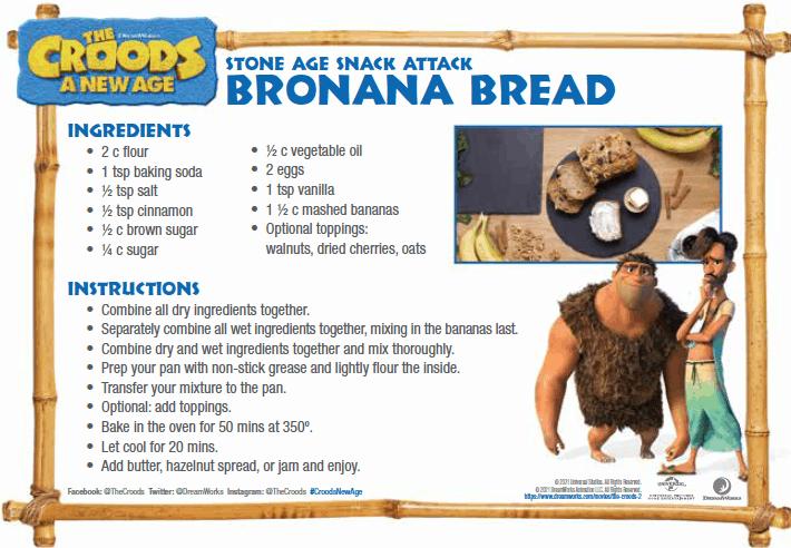 Croods Banana Bread Recipe
