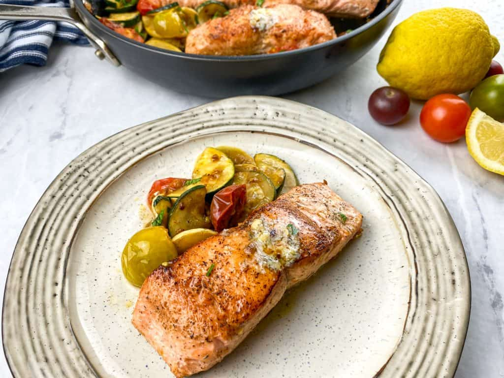 Crispy Salmon with Herb Butter Recipe