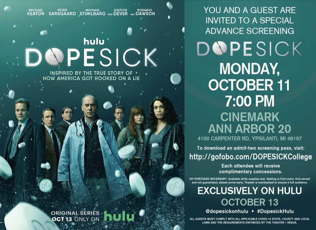 Ann Arbor - Get Your Free Passes to Special Screening of Dopesick